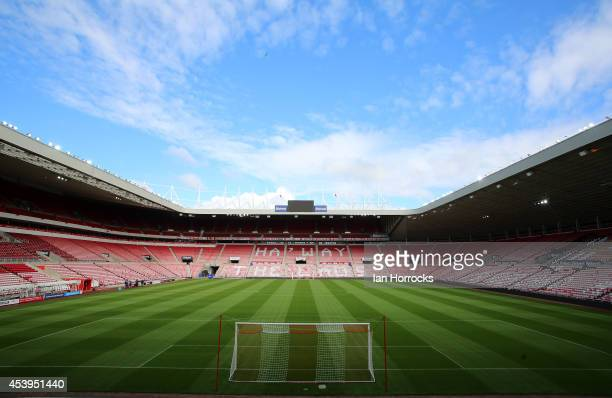 General views of the Stadium of Light during a Sunderland AFC Training Session at The Stadium of Light on August 22 2014 in Sunderland England