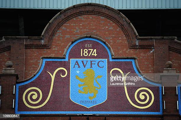 General Views of the Stadium prior to the Barclays Premier League match between Aston Villa and Blackburn Rovers at Villa Park on February 26 2011 in...