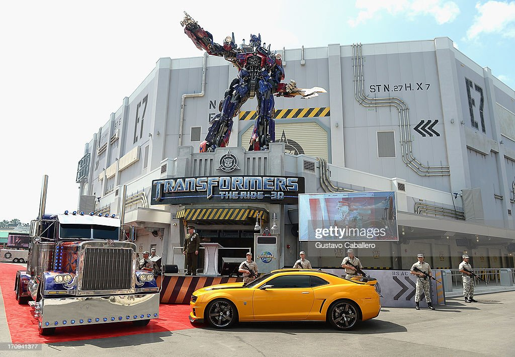 General views of the Transformers The Ride - 3D Grand Opening Celebration at Universal Orlando on June 20, 2013 in Orlando, Florida.