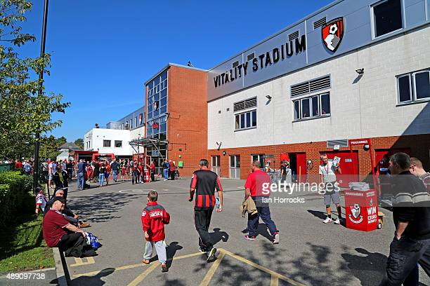 General views of the Vitality Stadium during the Barclays Premier League match between Bournemouth and Sunderland at the Vitality Stadium on...
