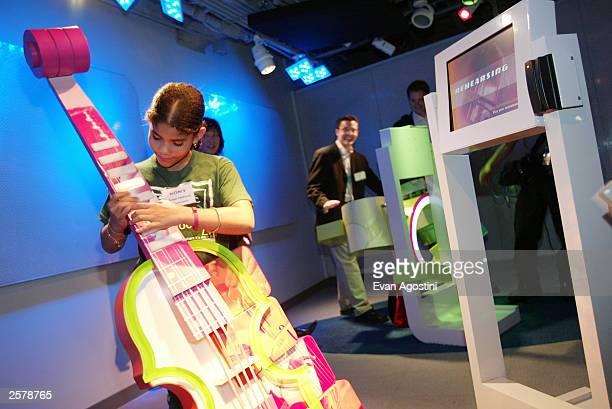 General views of the Wonder of Music station at the new immersive exhibit space Sony Wonder Technology Lab at the Sony Building October 10 2003 in...