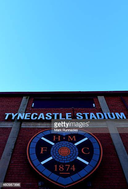 general views of Tynecastle Stadium the home of Heart of Midlothian FC during the Scottish Championship match between Heart of Midlothian FC and...