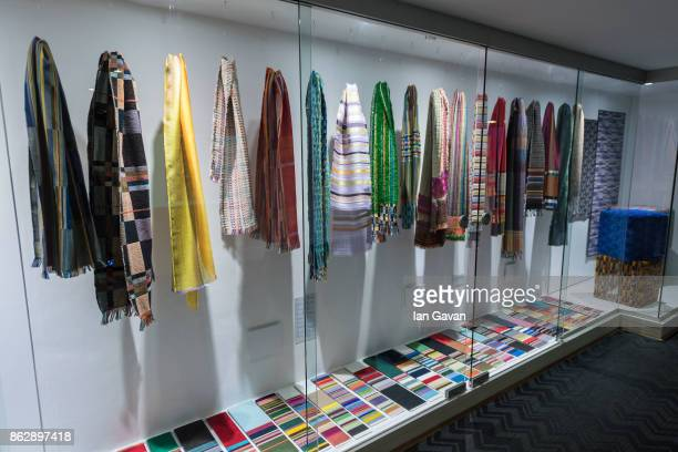 General views of Wallace and Sewell items in the museum space during the Louise DahlWolfe exhibition private view at The Fashion and Textile Museum...