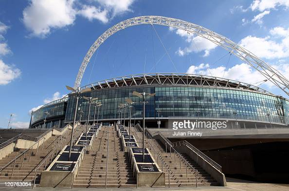 General views of Wembley Stadium as England v Netherlands game is called off at Wembley Stadium as the England v Netherlands game is called off at...