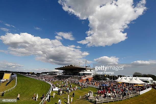 General views on day three of the Qatar Goodwood Festival at Goodwood Racecourse on July 30 2015 in Chichester England