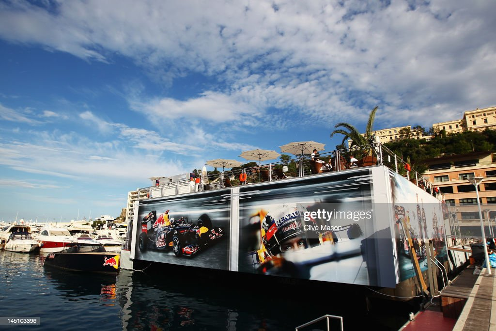 General views on the Red Bull Racing Energy Station during previews to the Monaco Formula One Grand Prix at the Monte Carlo Circuit on May 23, 2012 in Monte Carlo, Monaco.