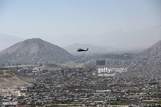 General views over Kabul on October 3 2014 in Kabul Afghanistan David Cameron is the first world leader to meet Afghanistan's new President Ashraf...