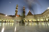 A general views shows Egyptians visiting AlAzhar mosque in Cairo's Islamic quarter during the Muslim holy fasting month of Ramadan on June 22 2015...
