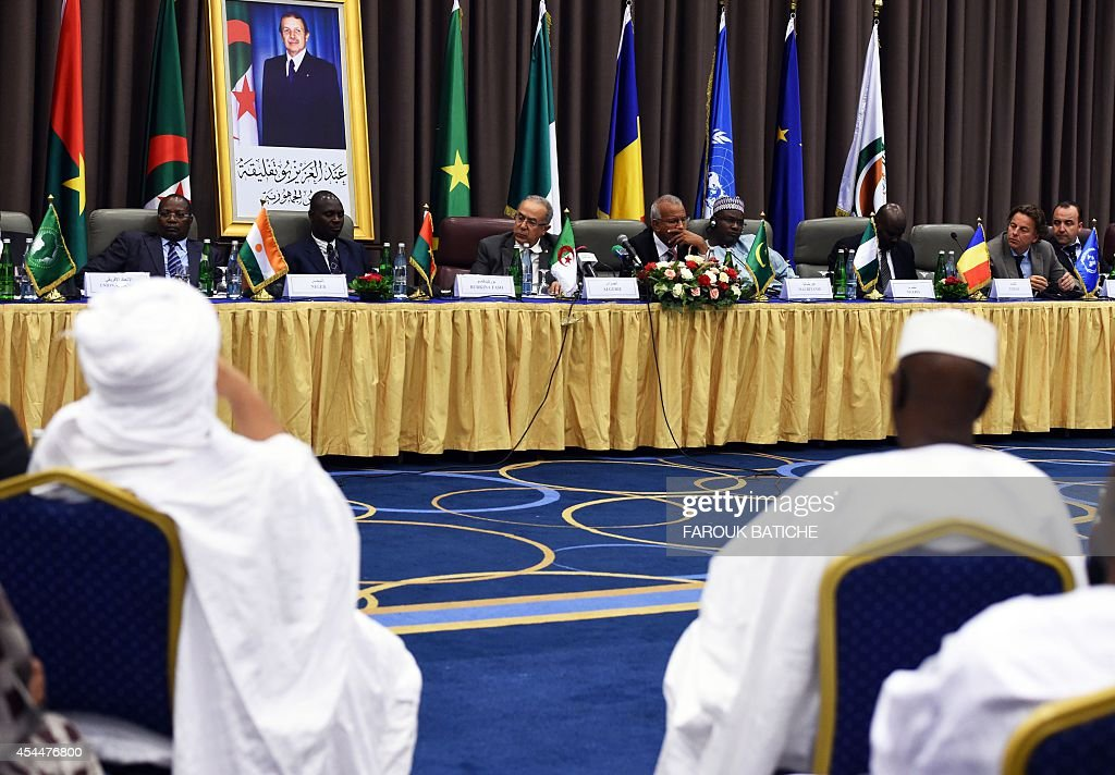 A general views shows the opening of peace talks on September 1, 2014 in Algiers between the Malian government and armed rebels, which are the second round of negotiations since July aimed at clinching a lasting peace agreement. The Bamako government and six rebel groups, mostly Tuareg but also including Arab organisations, are seeking to resolve a decades-old conflict that created a power vacuum in the desert north that was exploited by Al-Qaeda.