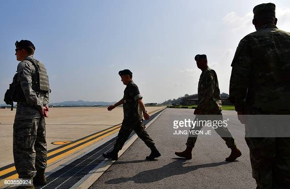 US General Vincent K Brooks Commander of the United Nations Command Combined Forces Command and United States Forces Korea and South Korea's Joint...
