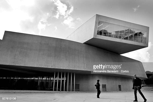 A general wiev of the new MAXXI MUSEUM OF XXI CENTURY ARTS in Rome The Museum designed by angloiraki architect Zaha Hadid will not be a place where...