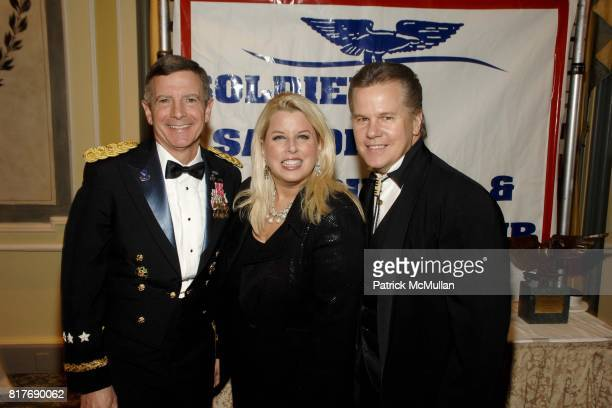 General William J Troy Rita Cosby and Tomaczek Bednarek attend Soldiers' Sailors' Marines' Coast Guard and Airmen's Club 14th Annual Military Ball at...