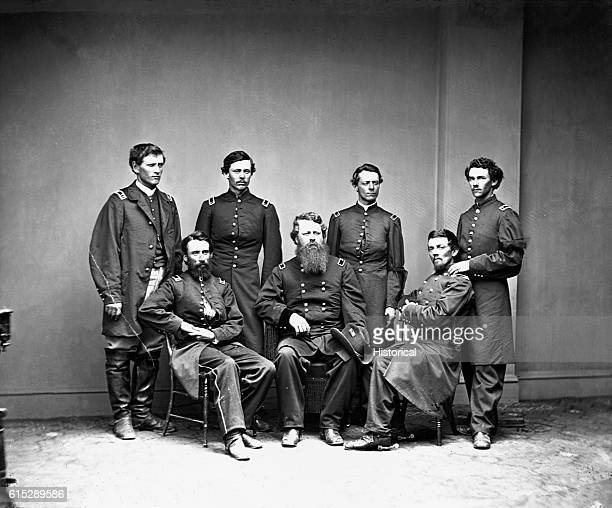 General William Worth Belknap and his military staff As Secretary of War in the cabinet of US Grant he was impeached for malfeasance and resigned