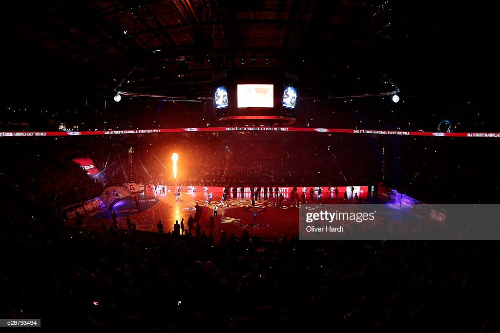 A generale view during the DKB REWE Final Four Finale 2016 between SG Flensburg Handewitt and SC Magdeburg at Barclaycard Arena on May 1, 2016 in Hamburg, Germany.