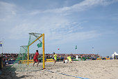 A generale view during the final match German Beachsoccer Championship 2015 between BSC Ibbenbueren and Rostocker Robben on August 16 2015 in...