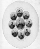 1861 Generals of the Union Army Clockwise from top McClellan Dix Banks Lyon Wool Anderson Fremont Butler Center Winfield Scott