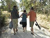 Generationalfamily walking