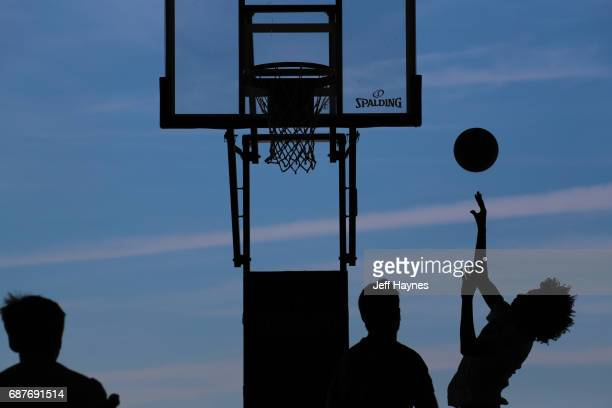 A shot of participants shooting around during the Mountain Dew NBA 3x3 tournament on May 14 2017 in Chicago Illinois NOTE TO USER User expressly...