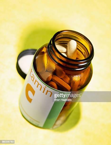 Generic bottle of vitamin C