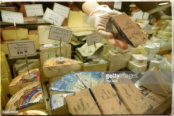 Generic cheese at the queen Victoria market 30 May 2002 The AGE Picture by KEN IRWIN