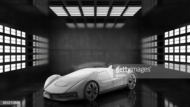 一般的な概念的なスポーツ車のスタジオ
