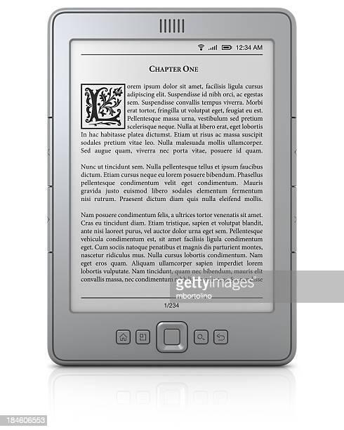 Leitor de ebook genérico com texto
