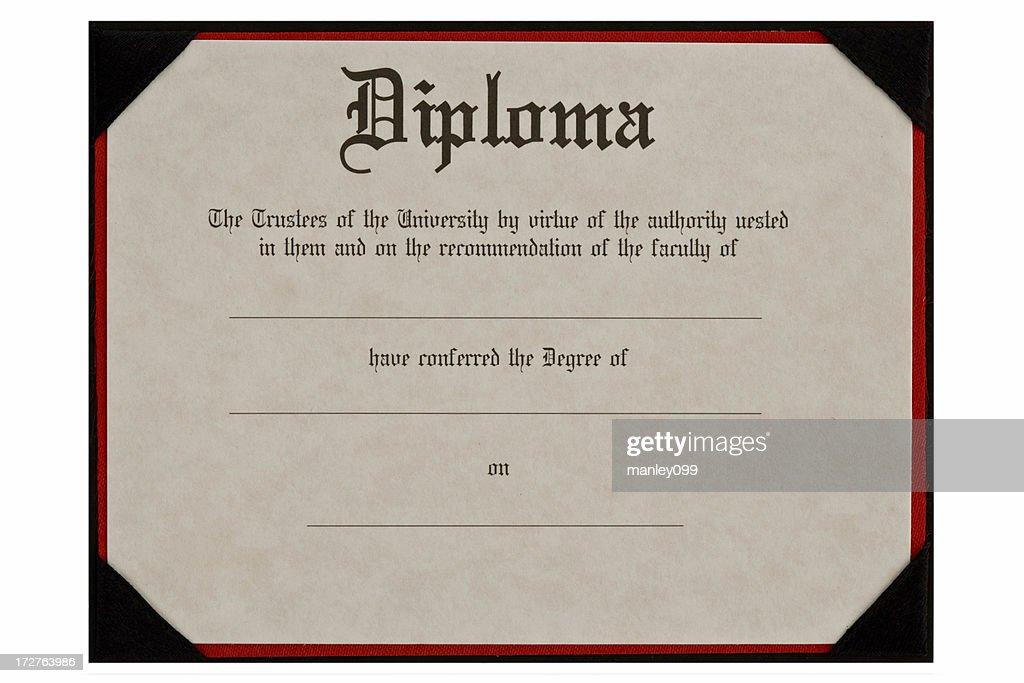 generic educational diploma : Stock Photo