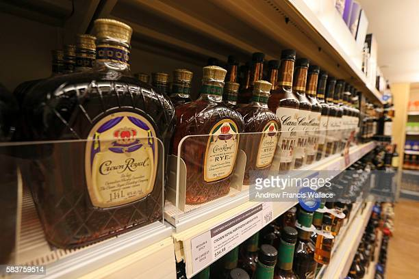 TORONTO ON JULY 26 Generic images of LCBO store at Cooper St in Toronto July 26 2016
