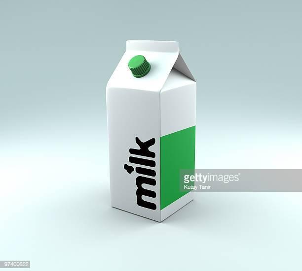 A generic milk carton
