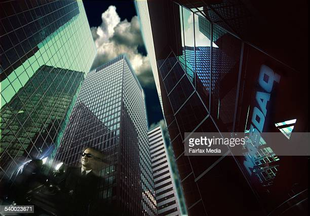 Generic New York City and Nasdaq 10 February 2000 AFR PhotoIllustration by GREG NEWINGTON Note This image has been digitally manipulated