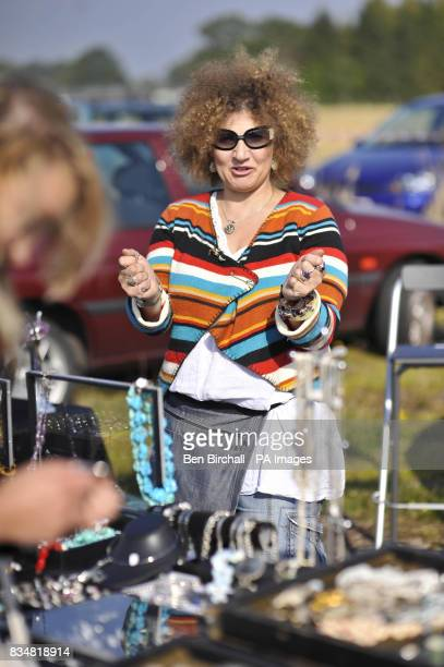 Generic picture of a seller at a car boot sale at Manor Farm Chedworth Gloucestershire