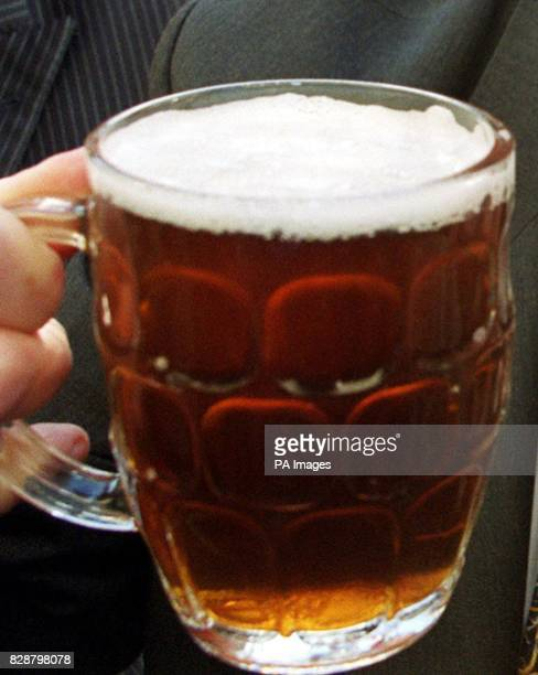 Generic picture of a tradional dimpled pint glass Health officials urged ale lovers to drink sensibly following a new scientific study which found no...