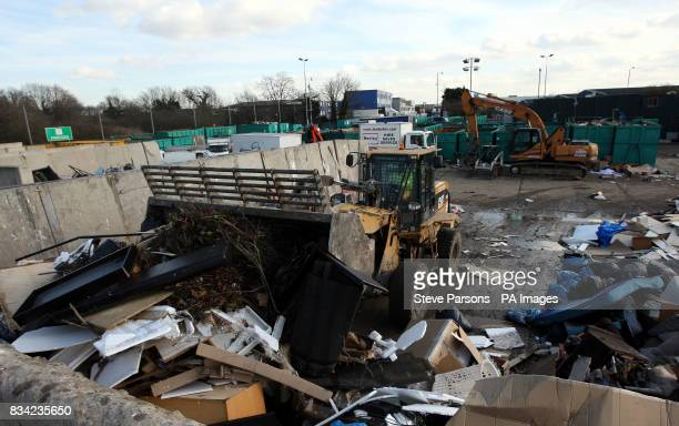 Generic picture of everyday rubbish and a storage depot in Feltham