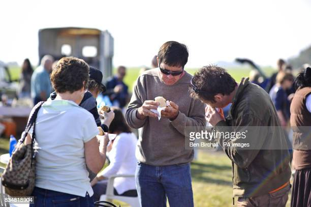 Generic picture of people eating at car boot sale at Manor Farm Chedworth Gloucestershire