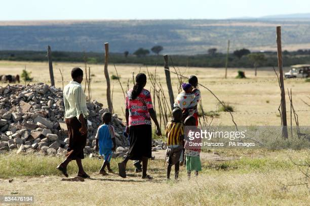 Generic picture of the local community from a village in the Maasai Mara in Kenya
