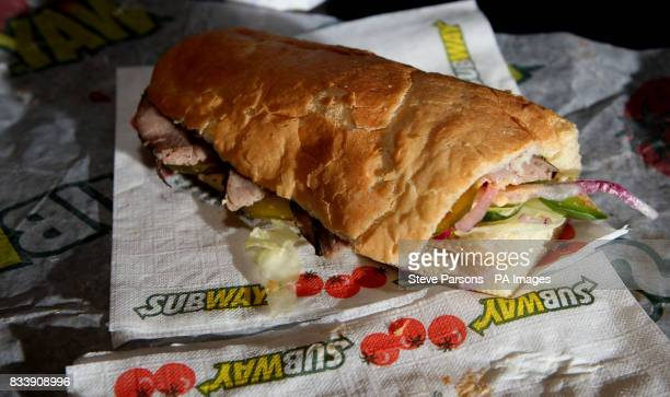 Generic pictures of a beef sandwich from Subway fast food outlet