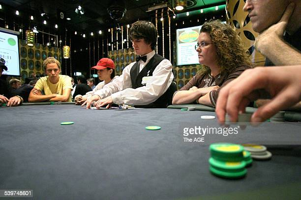 Generic play in the poker championships at Crown Casino 6 January 2005 The AGE Picture by KEN IRWIN