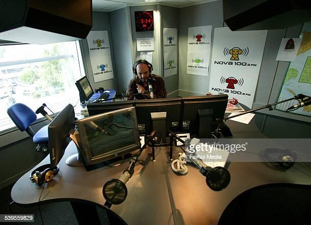 Generic radio nova recording studio broadcast broadcasting ratings station airwaves transmission music news callback microphone on air presenter 7...