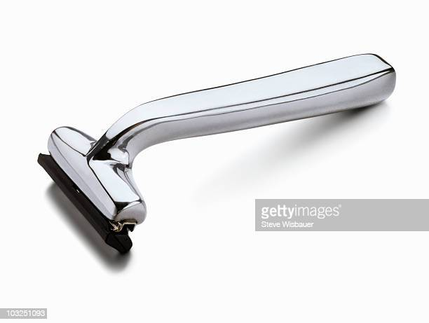 Generic silver chrome safety razor
