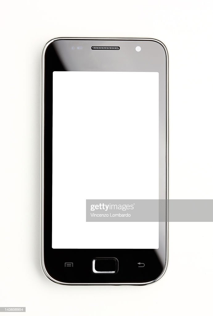 Generic smart phone with empty 'screen' : Stock Photo