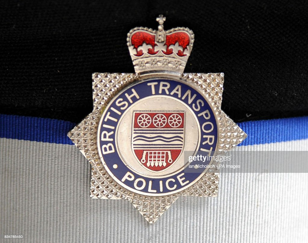 british transport police badge pictures getty images