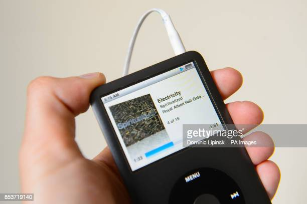 Generic stock photo shows an ipod mp3 player dsplaying a low battery symbol