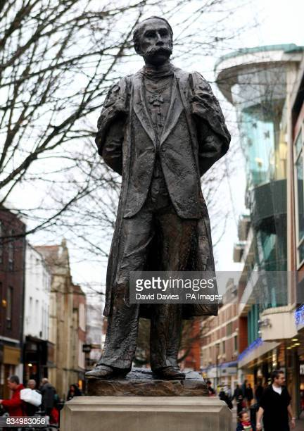 A generic stock picture of the Edward Elgar Statue on the High Street in Worcester