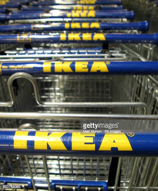 Generic stock picture of trolleys at Ikea in Edmonton London