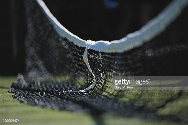A generic view of a part lowered net during the Wimbledon Lawn Tennis Championships on 27th June 1995 at the All England Lawn Tennis and Croquet Club...