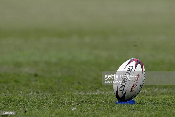 Generic view of a Rugby League ball during the Kelloggs NutriGrain Challenge Cup SemiFinal match between Leeds Rhinos and St Helens at the JJB...