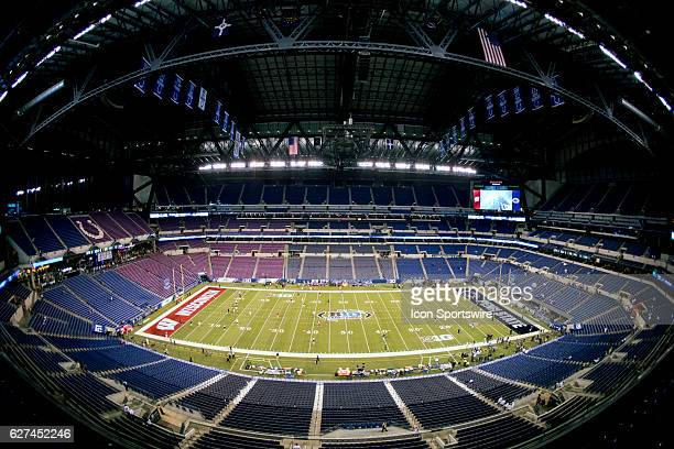 Generic view of Lucas Oil Stadium before the Big Ten Championship Game between the Penn State Nittany Lions and the Wisconsin Badgers on December 03...