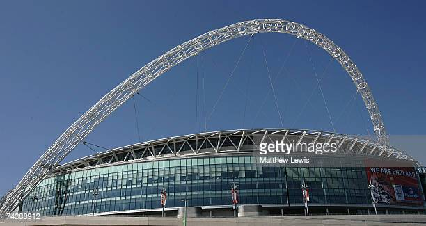 Generic views of Wembley Stadium ahead of the Charity Celebrity Football Match against a team of Nationwide Customers at Wembley Stadium on June 2...