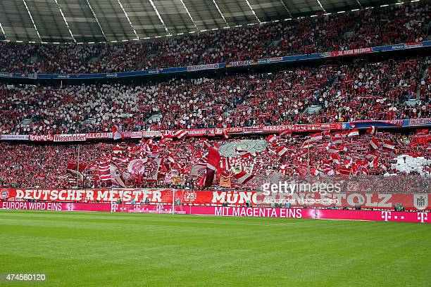 Generla view during the Bundesliga match between FC Bayern Muenchen and 1 FSV Mainz 05 at the Allianz Arena on May 23 2015 in Munich Germany
