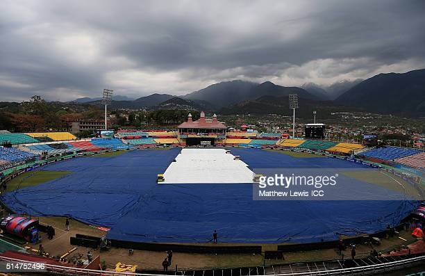 A generla view of the HPCA Stadium ahead of the ICC World Twenty20 India 2016 match between Netherlands and Oman at the HPCA Stadium on March 11 2016...